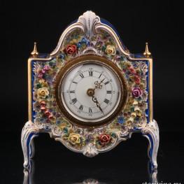 Фарфоровые Часы, Дрезден, Германия, сер. 20 в