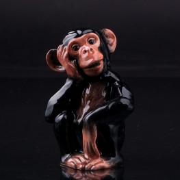 Фарфоровая статуэтка обезьяны Шимпанзе, Beswick, Великобритания.