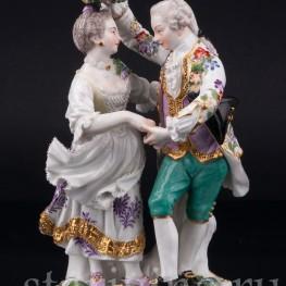 Танцующая пара с венком, Meissen, Германия, 19 в