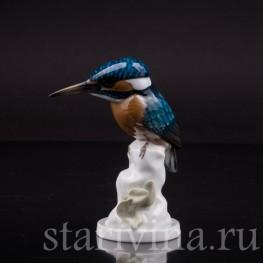 Фарфоровая статуэтка птицы Зимородок, Rosenthal, Германия, 1950 гг.